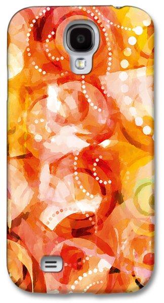 Home Decor Galaxy S4 Cases - Retropop Warm Decor Galaxy S4 Case by Home Decor