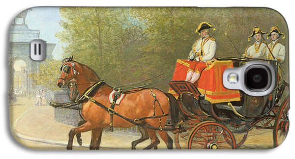 Returning From Her Majestys Drawing Room Galaxy S4 Case by Alfred Corbould