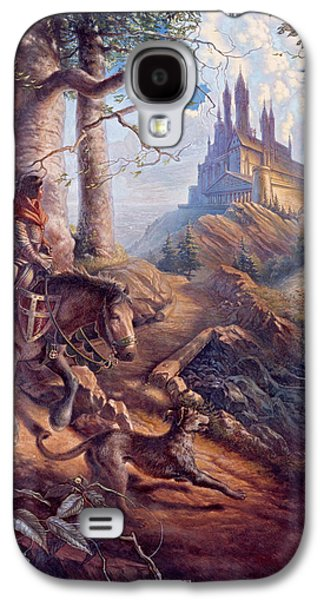 Knights Castle Paintings Galaxy S4 Cases - Returning Home Galaxy S4 Case by D Brent Burkett