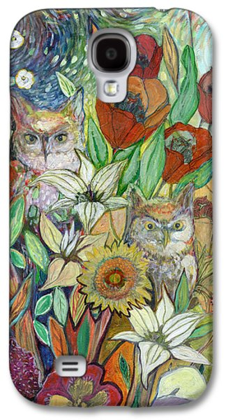 Nature Abstract Paintings Galaxy S4 Cases - Returning Home to Roost Galaxy S4 Case by Jennifer Lommers