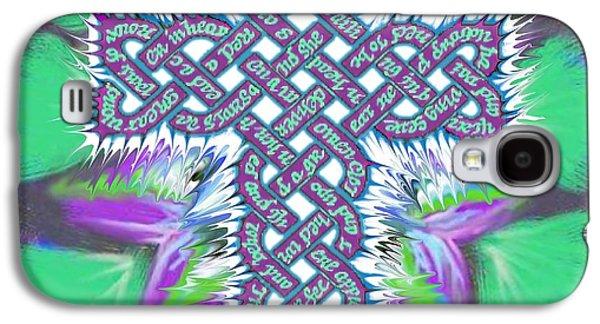 Jesus Tapestries - Textiles Galaxy S4 Cases - Rev 12 Cross Flower Galaxy S4 Case by Hidden  Mountain