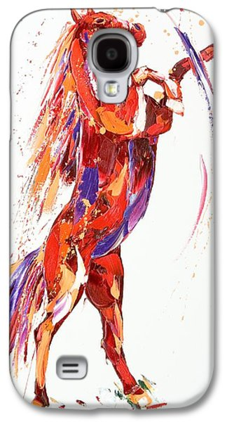 Colorful Abstract Galaxy S4 Cases - Reverie Galaxy S4 Case by Penny Warden