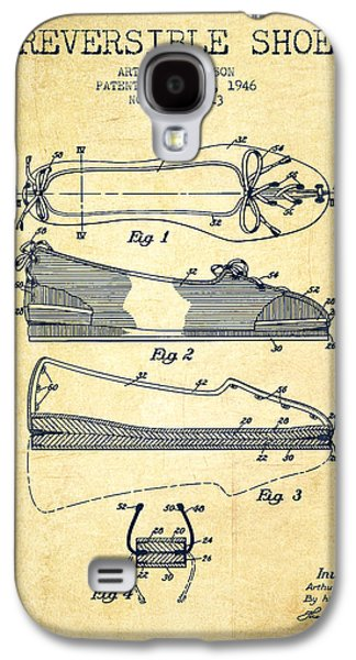 Shoe Digital Art Galaxy S4 Cases - Reversible Shoe Patent from 1946 - Vintage Galaxy S4 Case by Aged Pixel