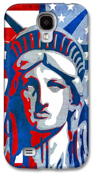 Government Mixed Media Galaxy S4 Cases - Reversing Liberty 3 Galaxy S4 Case by Angelina Vick