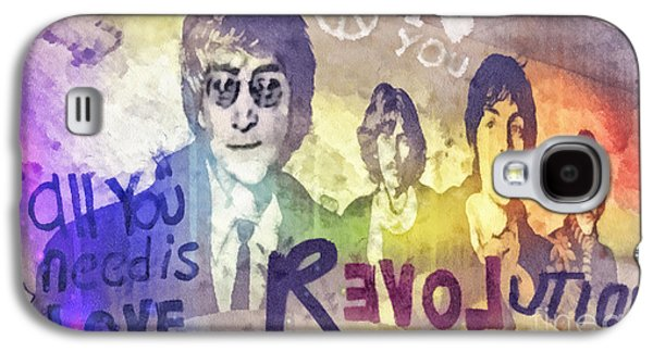 Beatles Galaxy S4 Cases - Revolution Galaxy S4 Case by Mo T