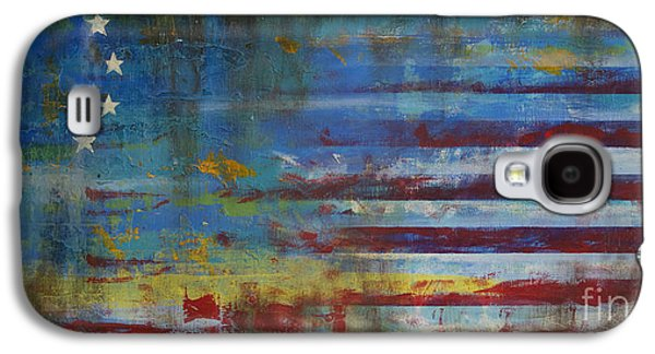 Flag Paintings Galaxy S4 Cases - Revolutionary Galaxy S4 Case by Sean Hagan