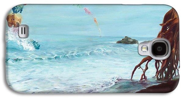 Rhinoceros Paintings Galaxy S4 Cases - Revolve Galaxy S4 Case by Sarah Soward