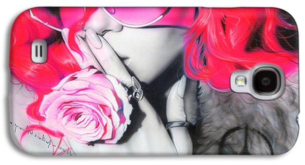 Pop Music Galaxy S4 Cases - Rhianna Galaxy S4 Case by Christian Chapman Art