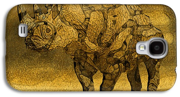 Painter Photo Galaxy S4 Cases - Rhino - Abstract Galaxy S4 Case by Jack Zulli