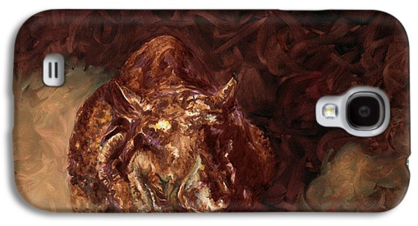 One Horned Rhino Paintings Galaxy S4 Cases - Rhino Charger Heaven Galaxy S4 Case by Sarah Soward