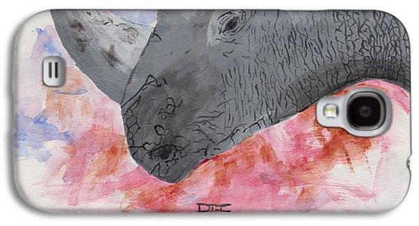 Rhinoceros Paintings Galaxy S4 Cases - Rhino Galaxy S4 Case by David Jackson