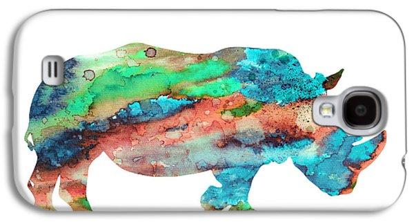 Rhinoceros Paintings Galaxy S4 Cases - Rhinoceros  Galaxy S4 Case by Luke and Slavi