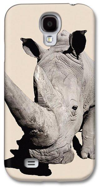 One Horned Rhino Galaxy S4 Cases - Rhinocerosafrica Galaxy S4 Case by Thomas Kitchin & Victoria Hurst