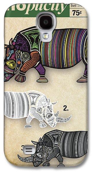 Hippopotamus Digital Art Galaxy S4 Cases - Rhinoplicity Galaxy S4 Case by Patti Parish