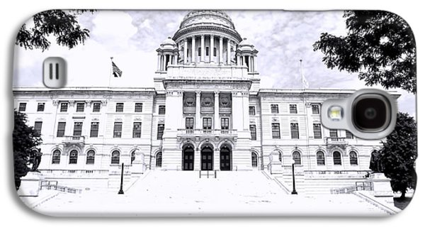 Historical Buildings Galaxy S4 Cases - Rhode Island State House BW Galaxy S4 Case by Lourry Legarde