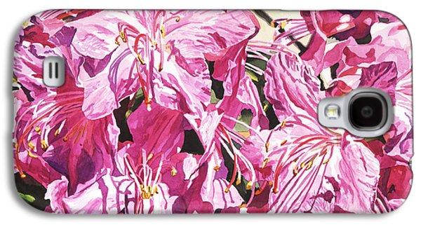 Rhododendron Galaxy S4 Cases - Rhodo Blossoms Galaxy S4 Case by David Lloyd Glover