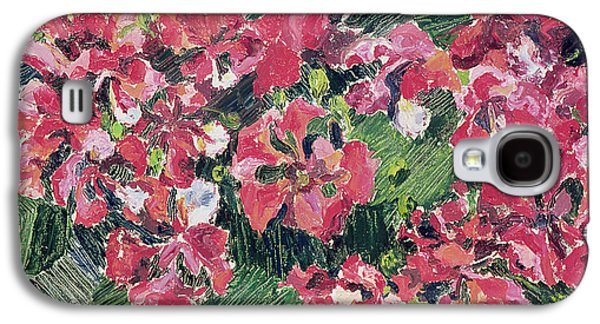 Green Foliage Galaxy S4 Cases - Rhododendron, 1962 Oil On Canvas Galaxy S4 Case by Izabella Godlewska de Aranda