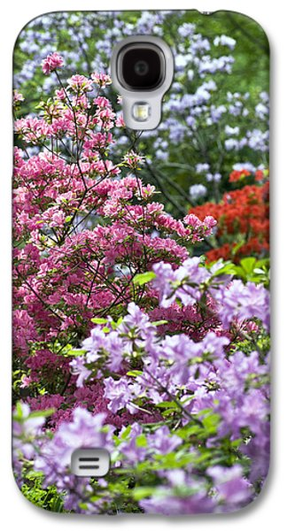 Rhododendron Galaxy S4 Cases - Rhododendron Garden Galaxy S4 Case by Frank Tschakert
