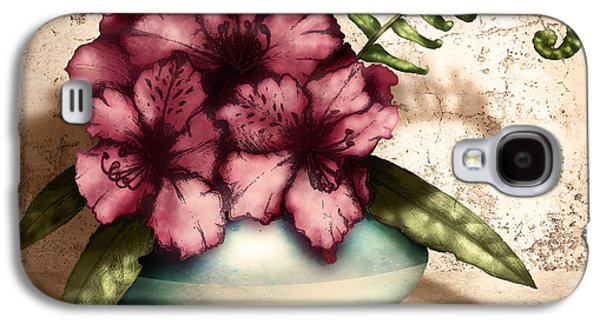 Botanical Digital Art Galaxy S4 Cases - Rhododendron I Galaxy S4 Case by April Moen