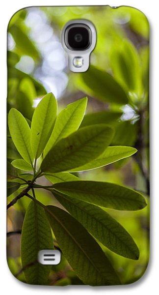Rhododendron Galaxy S4 Cases - Rhododendron Leaves Abstract Galaxy S4 Case by Mike Reid