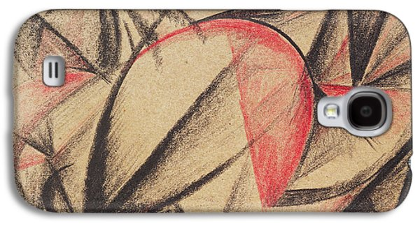 Abstract Forms Drawings Galaxy S4 Cases - Rhythm of Forms Galaxy S4 Case by Alexander Bogomazov