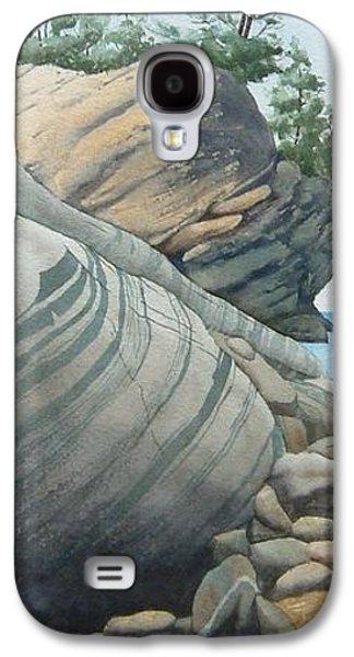Windblown Paintings Galaxy S4 Cases - Rhythms in Rock Galaxy S4 Case by Karen Richardson