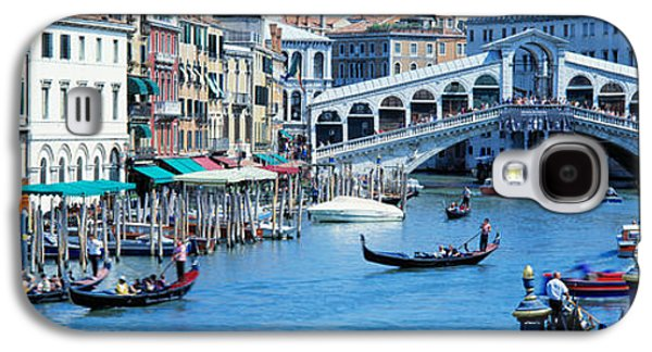 Historical Buildings Galaxy S4 Cases - Rialto Bridge & Grand Canal Venice Italy Galaxy S4 Case by Panoramic Images