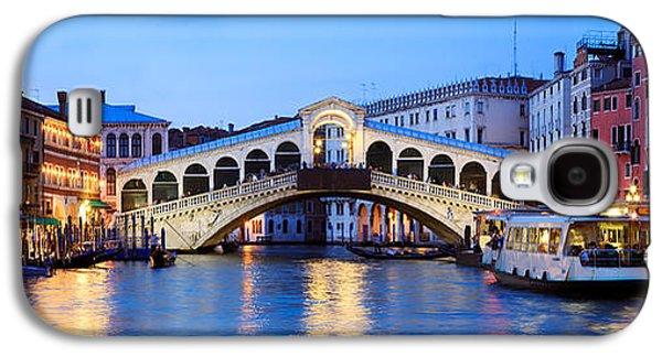 Rialto Bridge At Night Venice Italy Galaxy S4 Case by Matteo Colombo