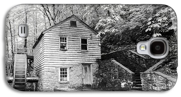 Tennessee Historic Site Galaxy S4 Cases - Rice Grist Mill Norris Dam State Park Tennessee - BW Galaxy S4 Case by Cynthia Woods