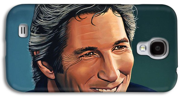 Realistic Art Paintings Galaxy S4 Cases - Richard Gere Galaxy S4 Case by Paul  Meijering
