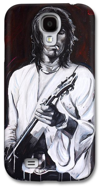 Keith Richards Paintings Galaxy S4 Cases - Richards Galaxy S4 Case by Harry Moses