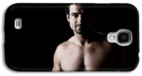 Posed Photographs Galaxy S4 Cases - Richie low key portrait Galaxy S4 Case by Jane Rix