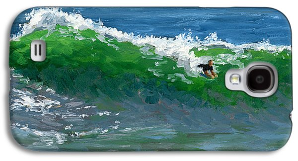 Storms Paintings Galaxy S4 Cases - Ride the Wild Wedge Galaxy S4 Case by Alice Leggett