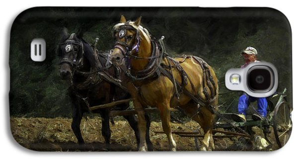 Machinery Galaxy S4 Cases - Riding the Plow - Painting Galaxy S4 Case by F Leblanc