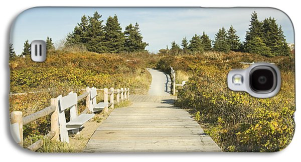 Maine Beach Galaxy S4 Cases - Ried State Park Beach Boardwalk on the Maine Coast Galaxy S4 Case by Keith Webber Jr