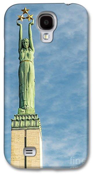 Star Alliance Photographs Galaxy S4 Cases - Riga Freedom Monument Galaxy S4 Case by Antony McAulay