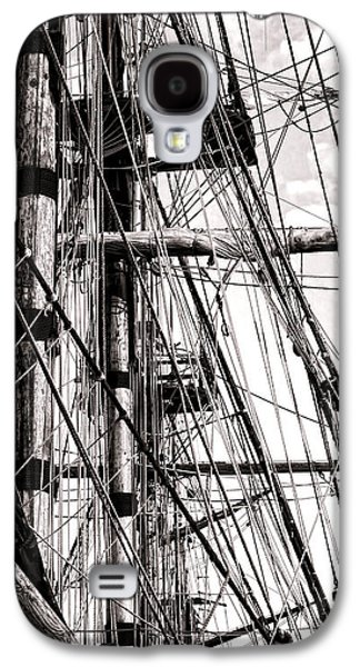 Tall Ship Galaxy S4 Cases - Rigging Galaxy S4 Case by Olivier Le Queinec