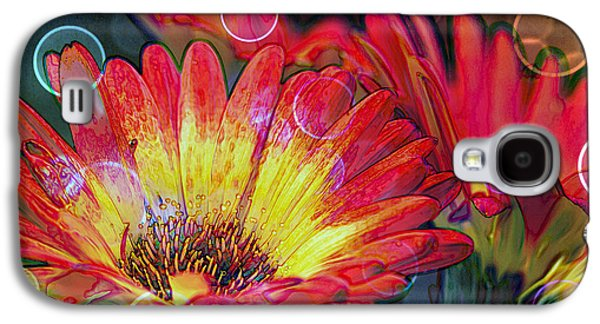 Digital Galaxy S4 Cases - Righteous Rainbow Blooms Galaxy S4 Case by Bill Tiepelman