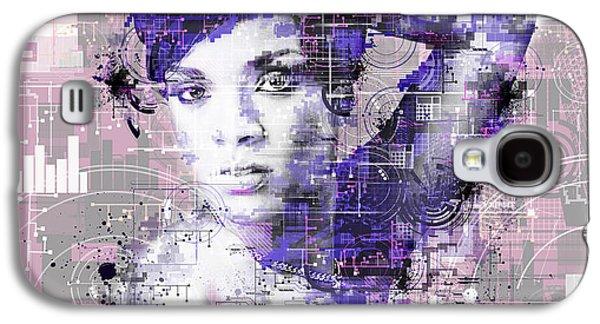 Rihanna 3 Galaxy S4 Case by Bekim Art