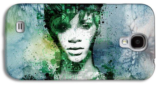 Rihanna Galaxy S4 Cases - Rihanna 4 Galaxy S4 Case by MB Art factory