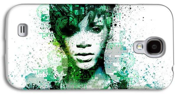 Rihanna Galaxy S4 Cases - Rihanna 5 Galaxy S4 Case by MB Art factory
