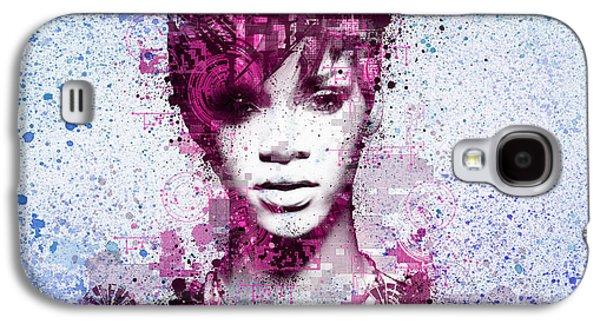 Rihanna Galaxy S4 Cases - Rihanna 8 Galaxy S4 Case by MB Art factory