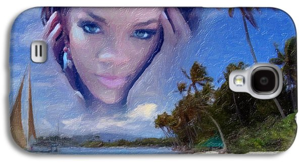 Hairstyle Digital Galaxy S4 Cases - Rihanna Galaxy S4 Case by Anthony Caruso