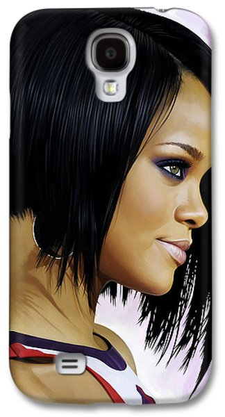 Rihanna Galaxy S4 Cases - Rihanna Artwork Galaxy S4 Case by Sheraz A