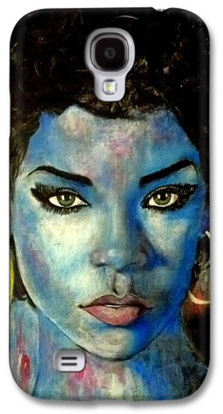 Blue Lady Galaxy S4 Case by Christopher Brown