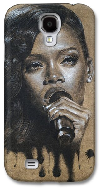 Pop Music Galaxy S4 Cases - Rihanna Dripping Talent  Galaxy S4 Case by Fithi Abraham