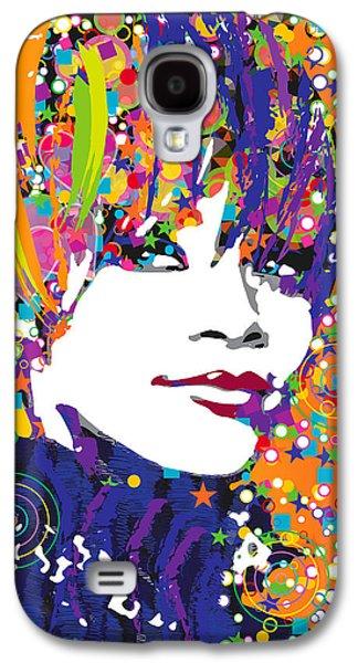Rihanna Galaxy S4 Cases - Rihanna in blue Galaxy S4 Case by Irina Effa