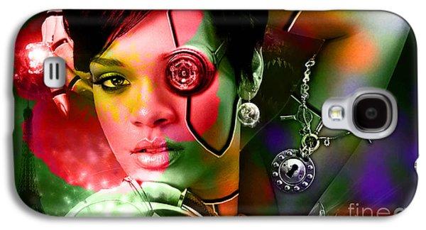 Rihanna Galaxy S4 Cases - Rihanna Galaxy S4 Case by Marvin Blaine