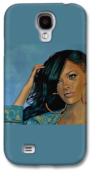 Rihanna Painting Galaxy S4 Case by Paul Meijering