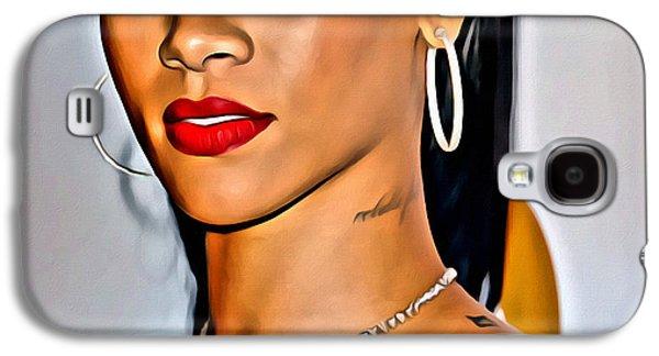 Rihanna Galaxy S4 Cases - Rihanna Portrait Galaxy S4 Case by Florian Rodarte